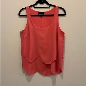 Cynthia Rowley Pink scalloped hem tank top